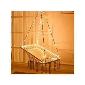 KINDEN Hammock Chair w/Lights for Patio, Bedroom, and Balcony