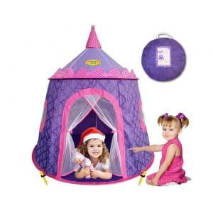 Outdoor Pop Up Foldable Playhouse for Baby /& Toddler Boys Girls Portable Mushroom Tent with Carry Bag 43 x 43 x 44 fisca Indoor Play Tent for Kids