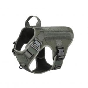 ICEFANG Tactical Dog Harness, No Pulling with Leash Attachment Clip