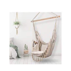 Komorebi Hammock Chair for Indoor and Outdoor Use | 2 Cushions Included