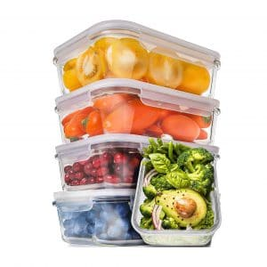 Prep Naturals Glass Food-Prep Containers
