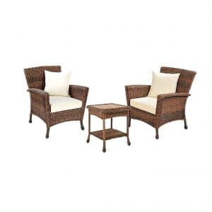 W Unlimited Rustic Collection Patio Furniture Bistro Set