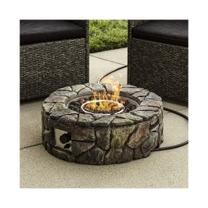 Best Choice Products Natural Stone Propane Fire Pit