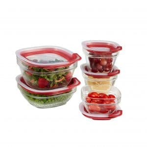 Rubbermaid 10 Pieces Easy-Find Lids Glass Meal Prep and Food Storage Containers