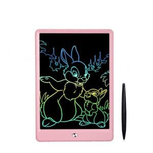 Ansel LCD 10 Inch Writing Drawing Tablet for Kids, (Pink)