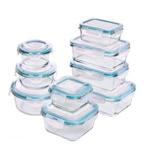 Utopia Kitchen Glass Meal-Prep Containers