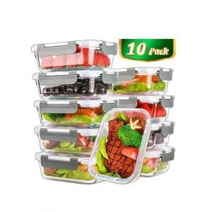 M MCIRCO Glass Food 22 Oz Storage Containers