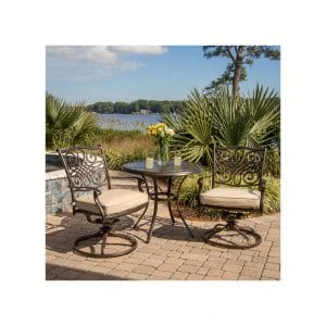 Hanover Traditions 3-Piece Rust-free Rocking Bistro Set